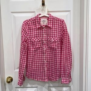 H&M pink gingham button down